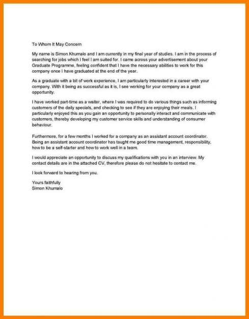 Motivation Letter Template for Learnership