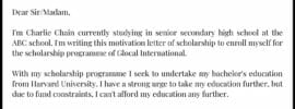 Motivation Letter for Students