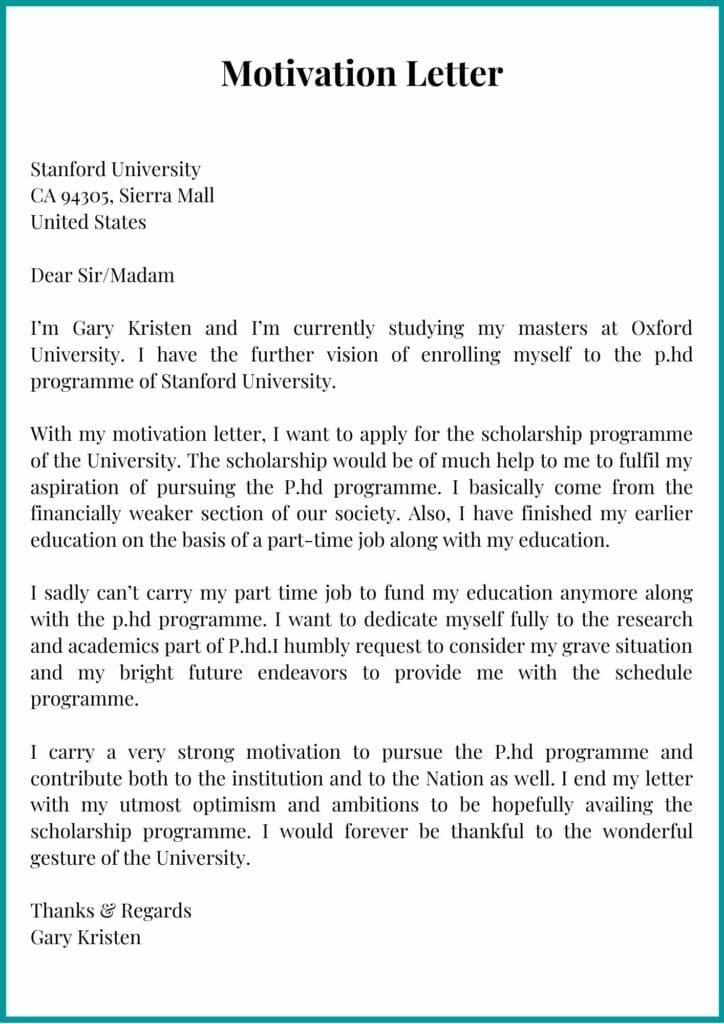 printable motivation letter